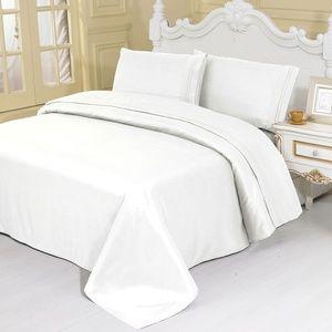 FULL size White Egyptian SHEET SET